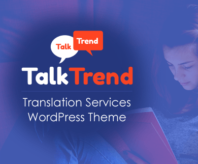 TalkTrend - Translation Services WordPress Theme