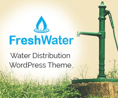FreshWater - Water Distribution WordPress Theme