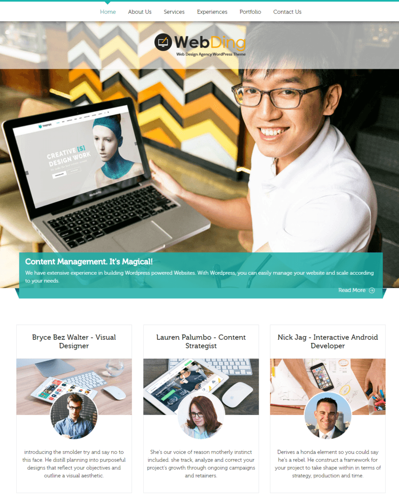Web Ding – Web Design Agency WordPress Theme