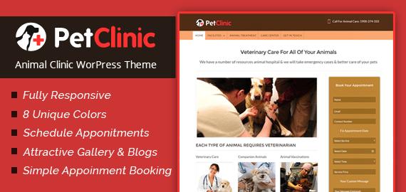 PetClinic – Animal Clinic WordPress Theme