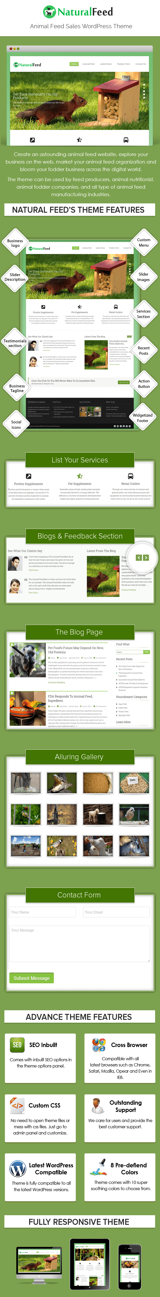 Animal Feed Sales WordPress Theme Sales Page Preview