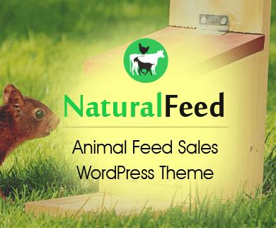 NaturalFeed - Animal Feed Sales WordPress Theme
