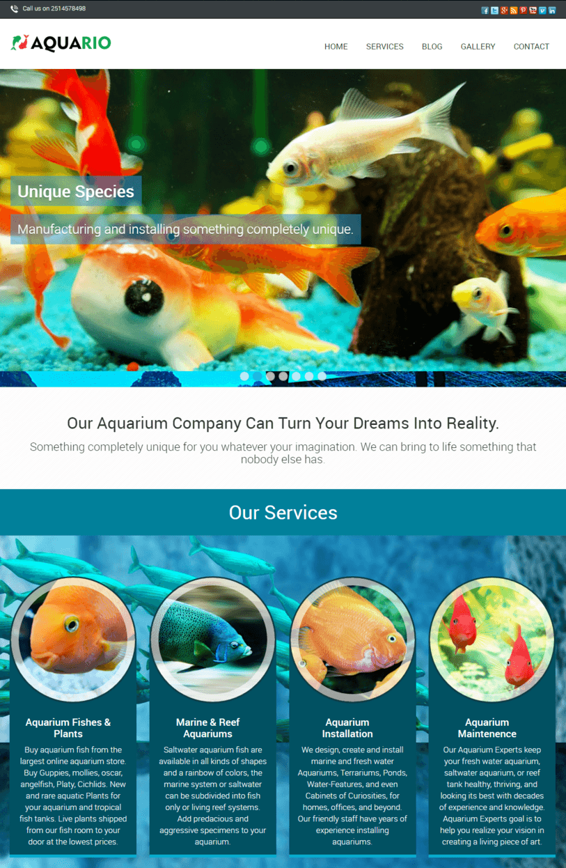 aquarium-wordpress-theme