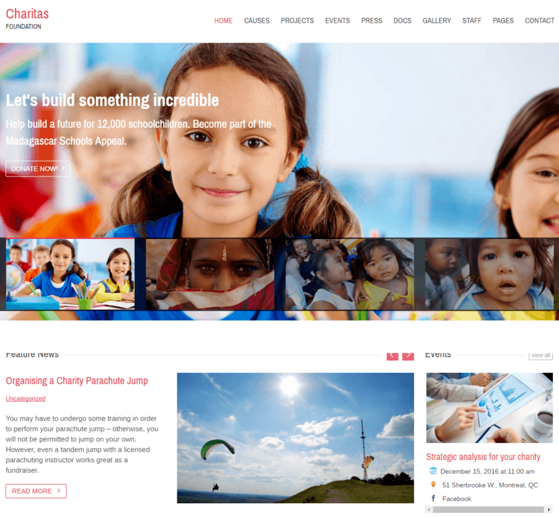Charity WordPres Theme InkThemes