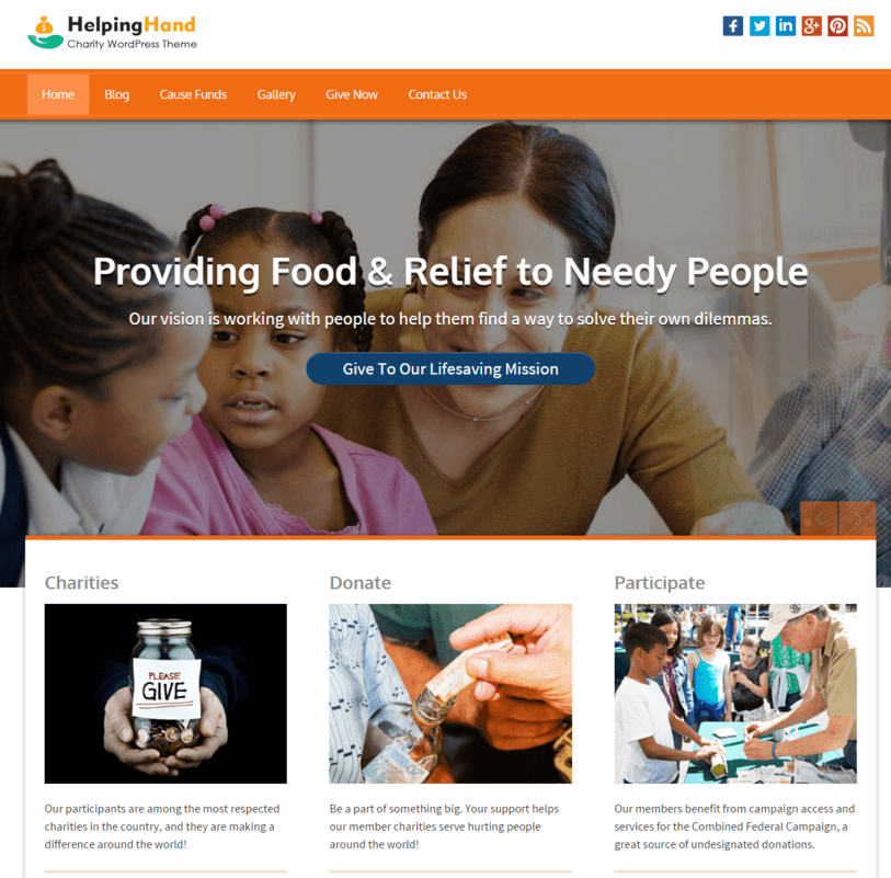Charity Organisation WordPress Theme InkThemes