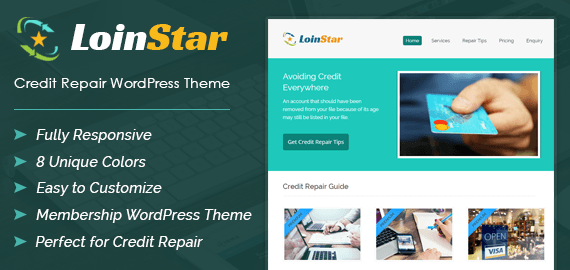 LoinStar – Credit Repair WordPress Theme
