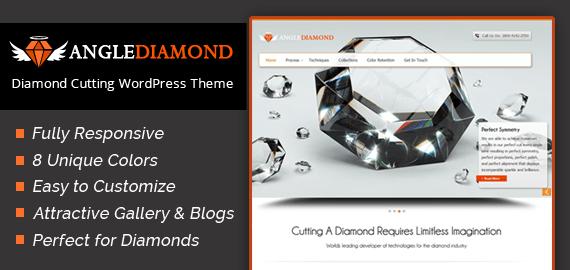 AngleDiamond – Diamond Cutting WordPress Theme