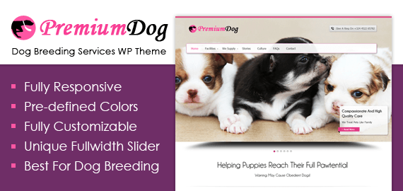 PremiumDog – Dog Breeding Services WordPress Theme