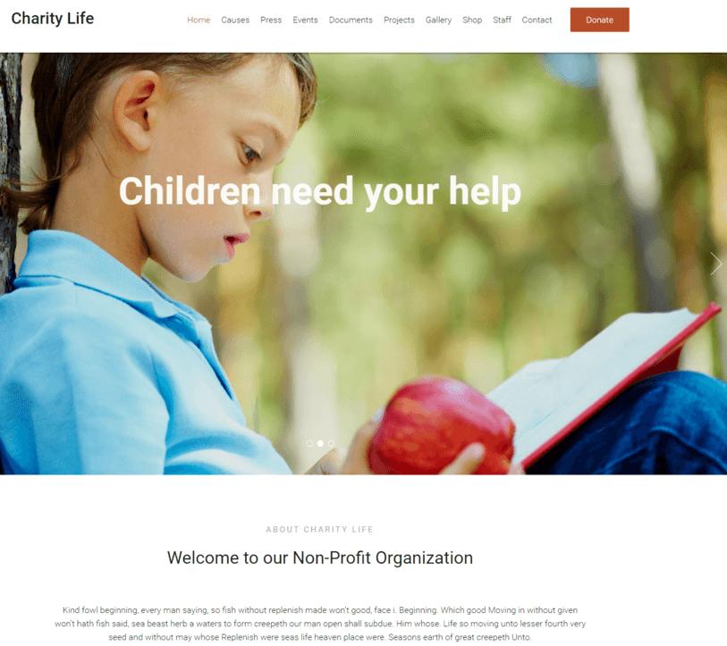Fundraising WordPres Theme InkThemes