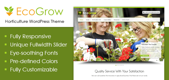 Horticulture WordPress Theme