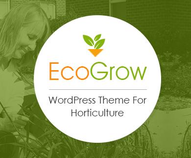 EcoGrow - Horticulture WordPress Theme
