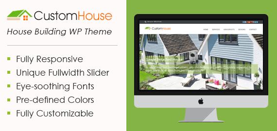 CustomHouse – House Building WordPress Theme