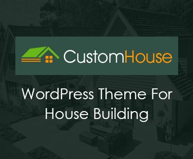 CustomHouse - House Building WordPress Theme