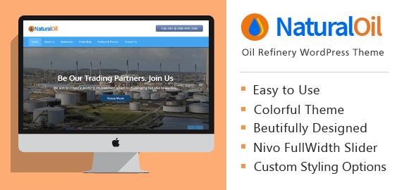 NaturalOil – Oil Refinery WordPress Theme