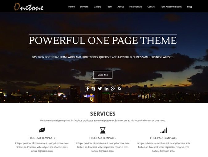 onetone wp theme