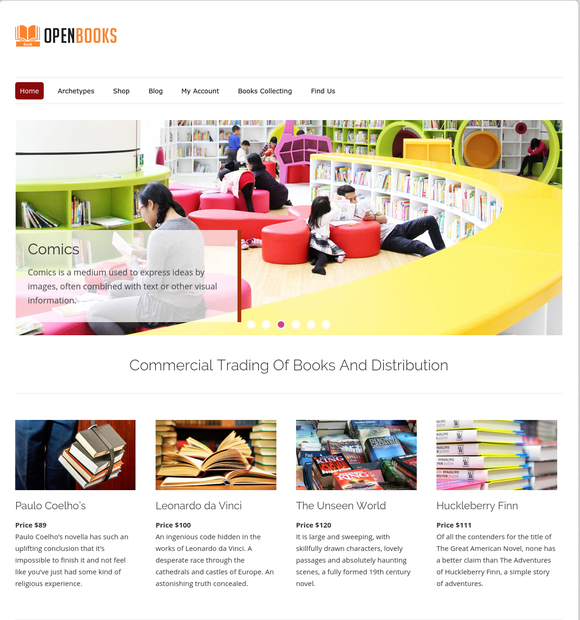open books wp theme
