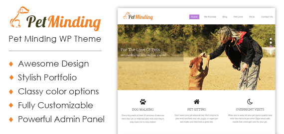 Pet Minding WordPress Theme