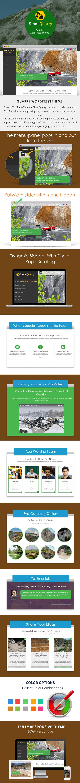 Quarry WordPress Theme Sales Page Preview
