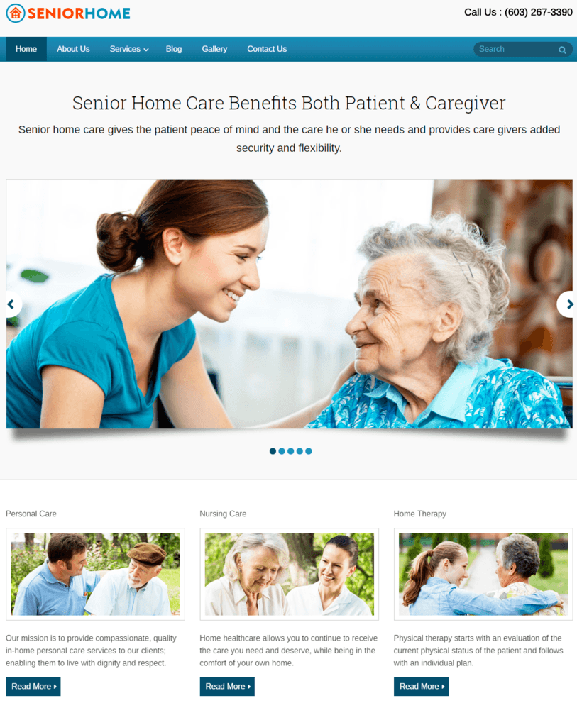 Senior Home WordPress Theme InkThemes