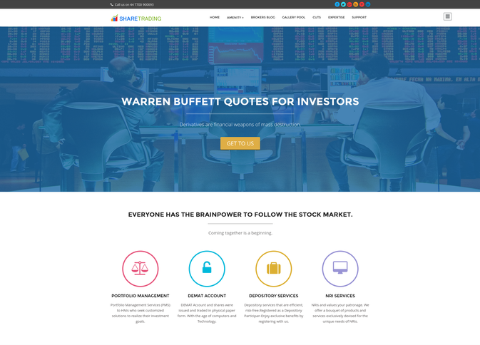 share trading wp theme
