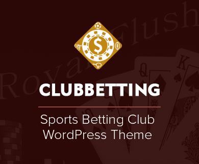 ClubBetting - Sports Betting Club WordPress Theme