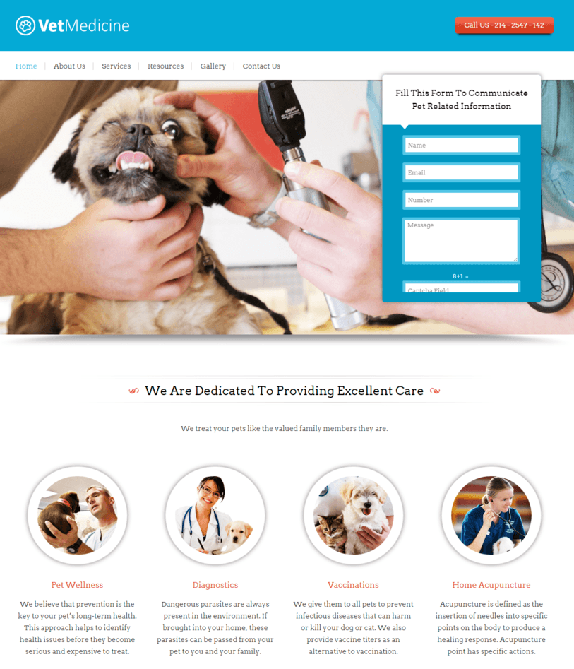 veterinary-wordpress-theme-site