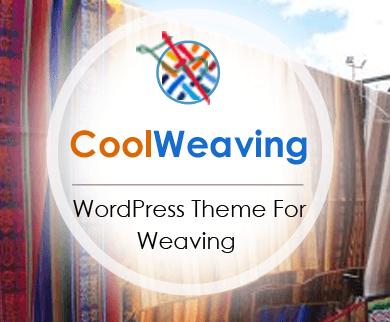 CoolWeaving - Weaving Art WordPress Theme