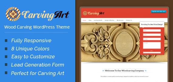 CarvingArt – Wood Carving WooCommerce WordPress Theme