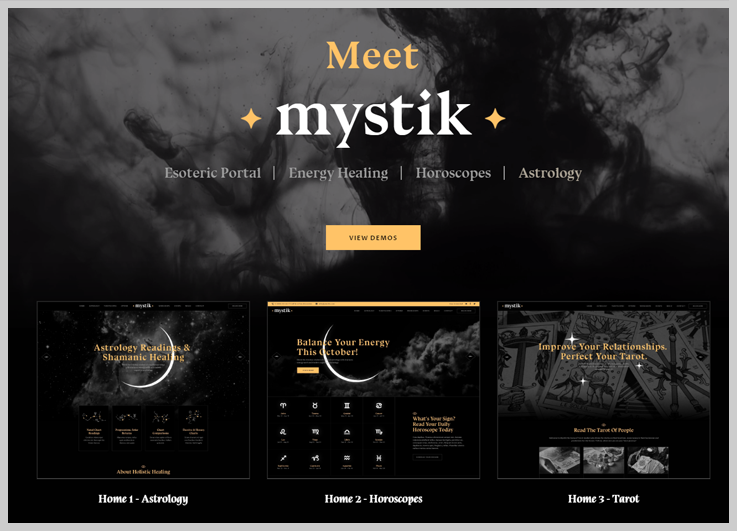 Mystik - Best Free Astrology WordPress Themes