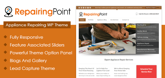 Appliance Repairing WordPress Theme