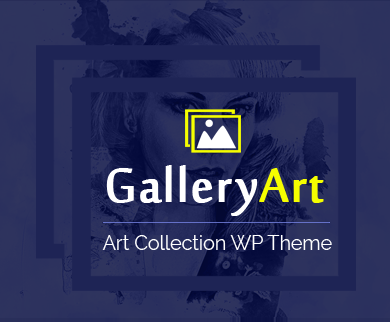 GalleryArt - Art collection WordPress Theme