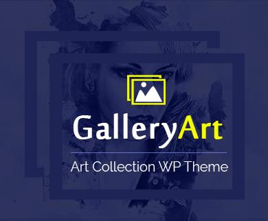 GalleryArt - Art collection WordPress Theme