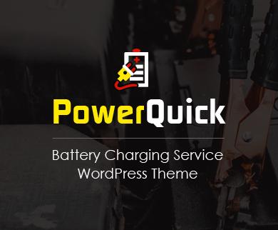 PowerQuick - Battery Charging Service WordPress Theme