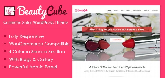 cosmetic product sales wordpress ecommerce theme inkthemes