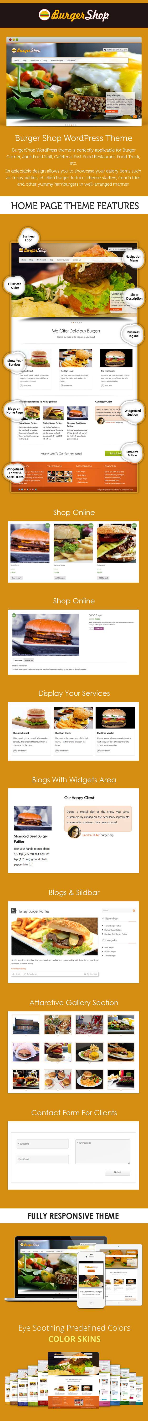 Burger Shop WordPress Theme