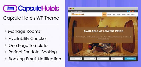 Capsule Hotels WordPress Theme
