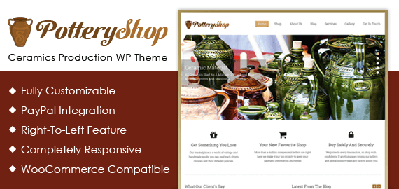 Ceramics Production WordPress Theme