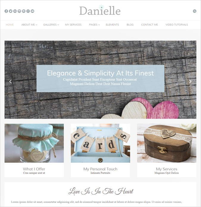 Danielle WordPress theme