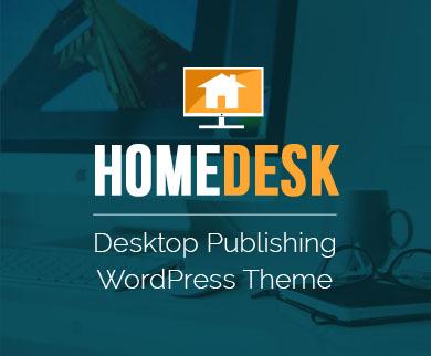 HomeDesk - Desktop Publishing Corporate WordPress Theme