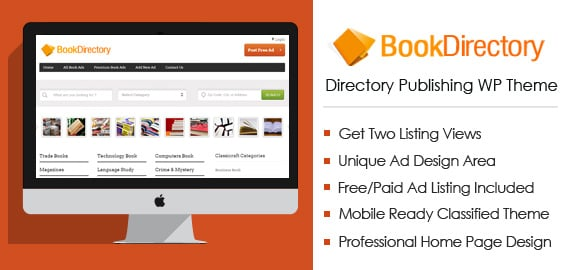 Classified WordPress Theme For Book Publishing | InkThemes