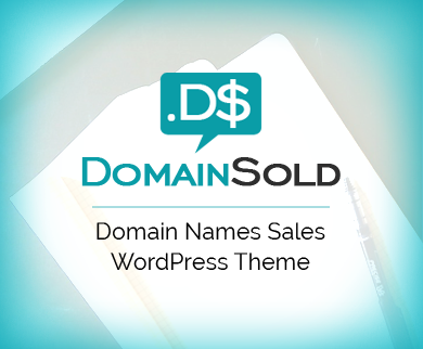 DomainSold - Domain Names Sell WordPress Theme