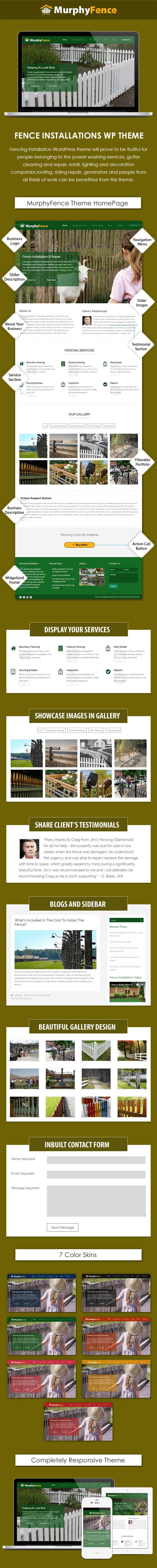 Fence Installatio WordPress Theme