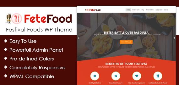 Festival Foods WordPress Theme
