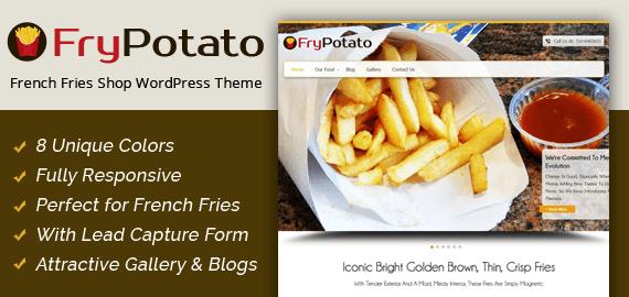 French Fries Shop WordPress Theme