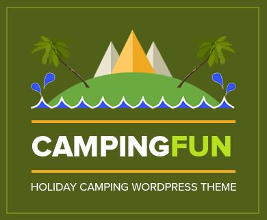 CampingFun - Holiday Camping WordPress Theme