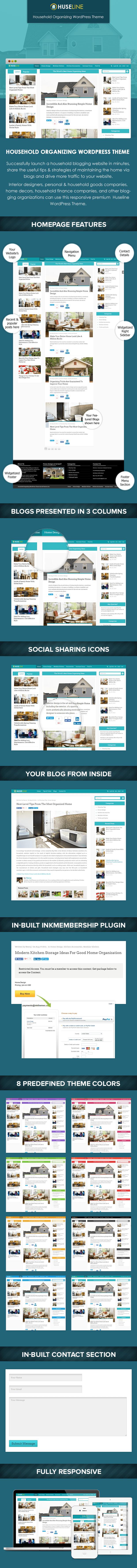 Household Organizing WordPress Theme