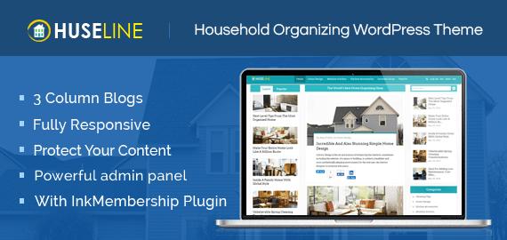 Huseline – Household Organizing WordPress Theme