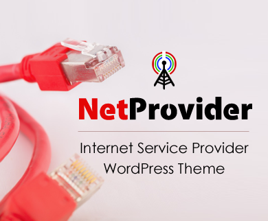 NetProvider - Internet Service Provider WordPress Theme
