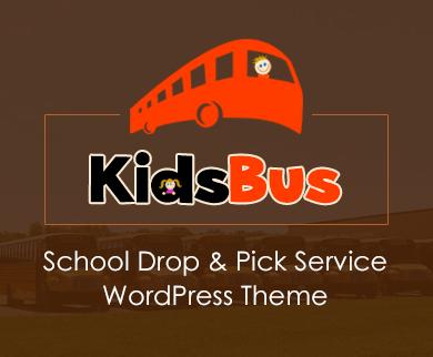 KidsBus - School Drop and Pick Service WordPress Theme