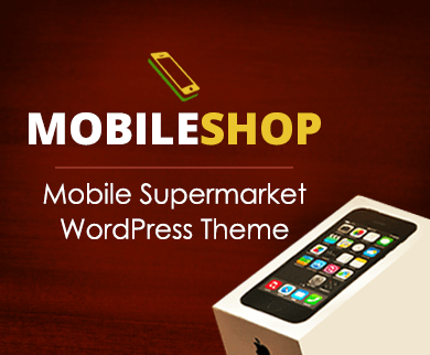 MobileShop - Mobile Supermarket Ecommerce WordPress Theme